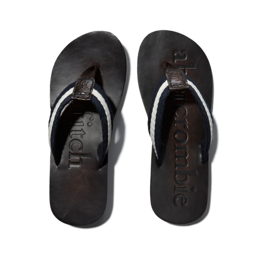 boys classic leather flip flops
