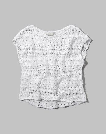 kids open-knit sweater tee