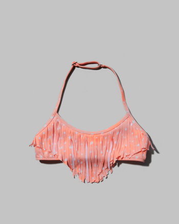 kids fringe swim top