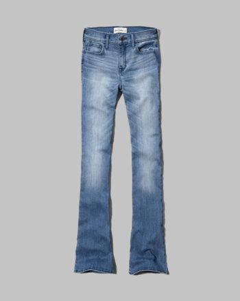 kids a&f kaylin high rise flare jeans