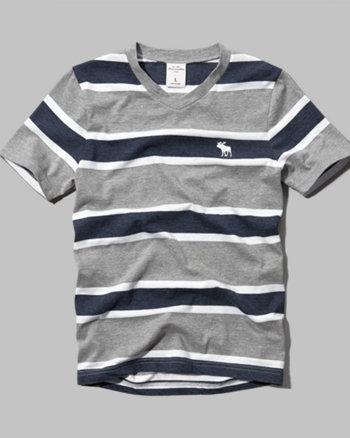kids striped v-neck tee