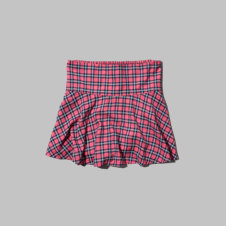 girls natural waist plaid dropwaist skirt