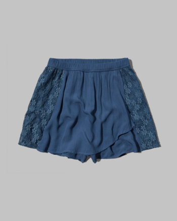 kids lace wrapped skort