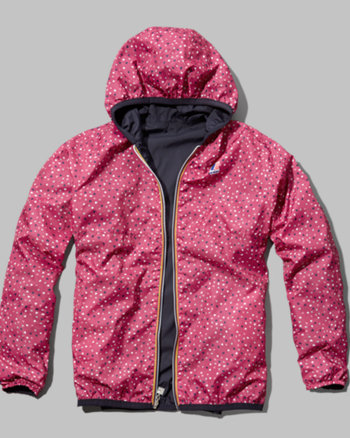 kids k-way with a&f claudette reversible jacket