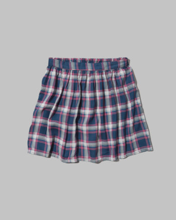 kids plaid skater skirt