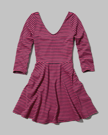 kids classic striped skater dress