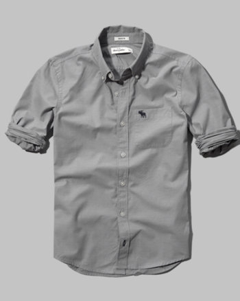 kids solid oxford shirt