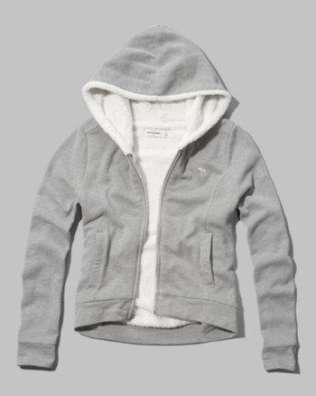 kids sherpa-lined hoodie