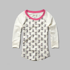 girls printed sleep tee