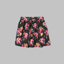 girls floral skater skirt