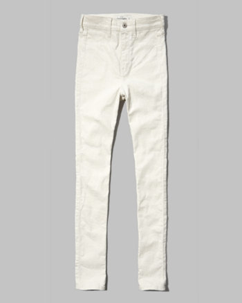 kids a&f brenna natural waist super skinny jeans