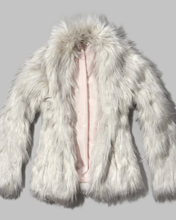 kids fluffy faux fur jacket