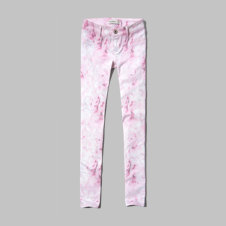 girls a&f hailey floral print jeggings