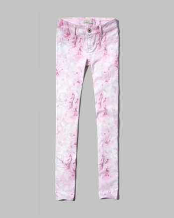 kids a&f hailey floral print jeggings