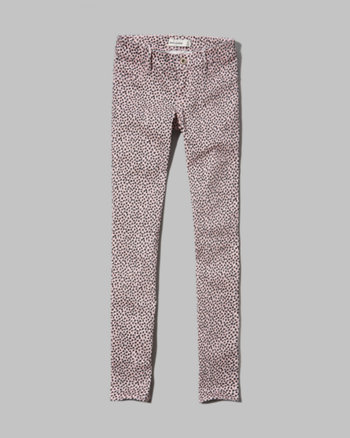 kids a&f hailey cheetah print jeggings