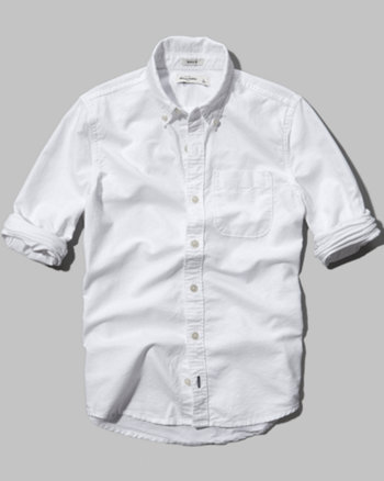 kids solid button-down shirt