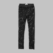 girls shimmering sequin leggings