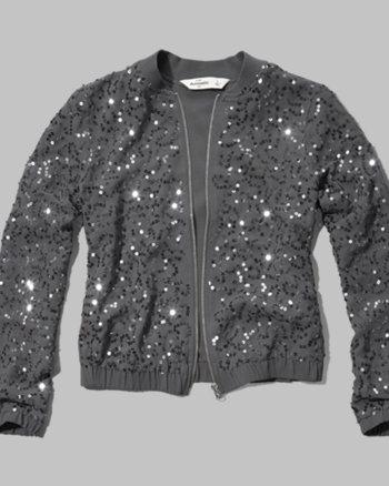 kids sequin bomber jacket