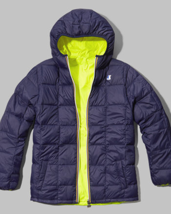kids k-way with a&f lucas thermo plus jacket