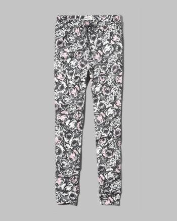 kids a&f floral jogger pants