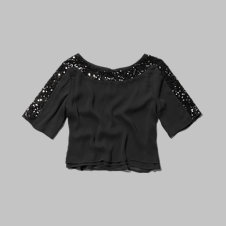 girls sequin crop top