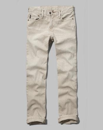 kids a&f classic straight khaki jeans