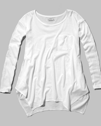 kids drapey pocket tee