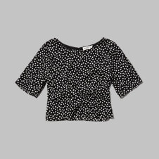 girls patterned crop top