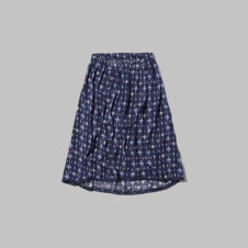 girls lightweight printed midi skirt