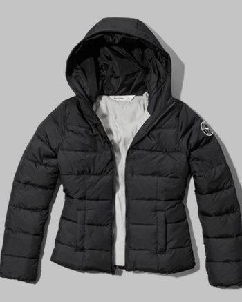 kids fleece lined puffer jacket