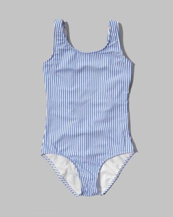 kids striped one-piece swimsuit