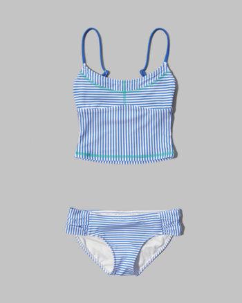 kids striped tankini two-piece swimsuit