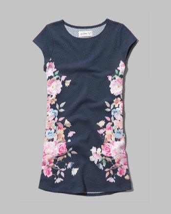 kids floral shift dress