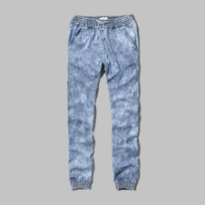 girls chambray drapey jogger pants