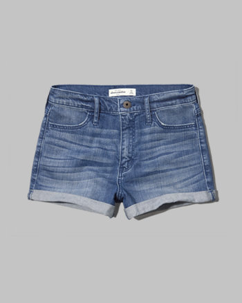 kids a&f high rise shorts