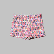 girls printed tapshorts