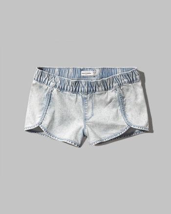 kids denim jogger shorts