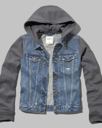 kids denim vest twofer jacket