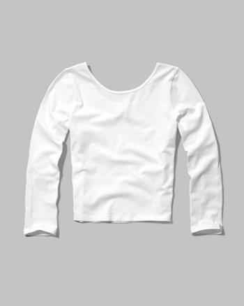 kids slim crop tee