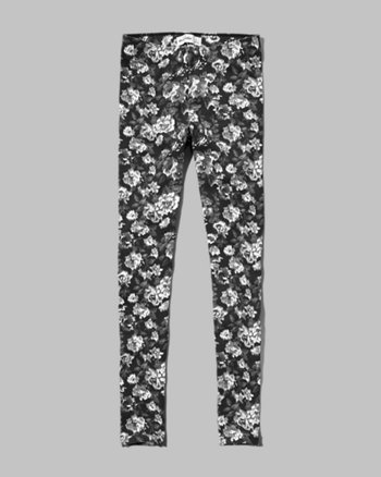 kids black floral leggings