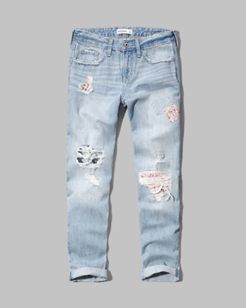 kids a&f boyfriend jeans