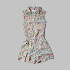 girls printed romper