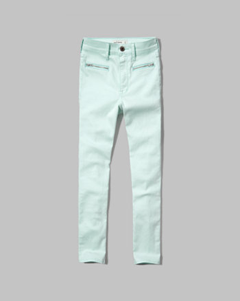 kids a&f high rise cropped jeans