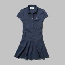 girls knit polo skater dress