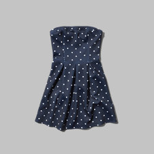 girls strapless skater dress