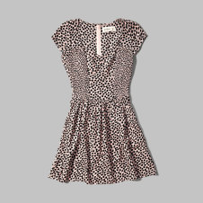girls pattern skater dress