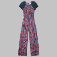girls lace sleeve jumpsuit