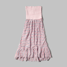 girls ruffle midi dress
