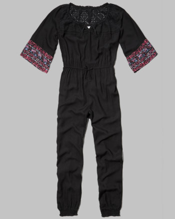 kids embroidered peasant jumpsuit
