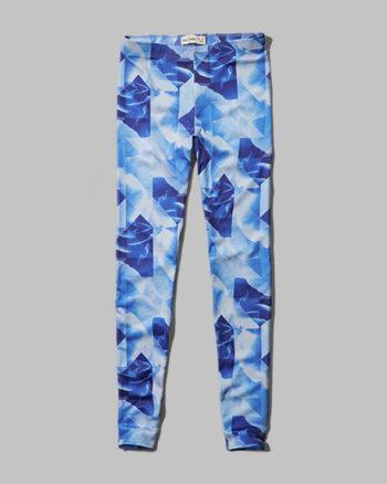 kids floral geometric leggings